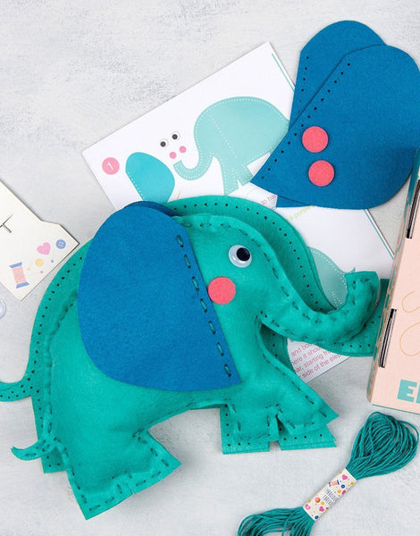 Elvis the Elephant Felt First Sewing Kit