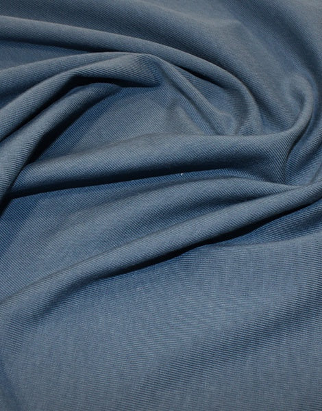 Denim Organic Cotton Jersey Fabric