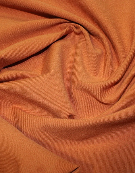 Rust Organic Cotton Jersey Fabric