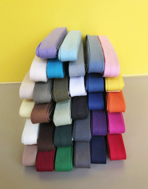 12mm Bias Binding, Various Colours