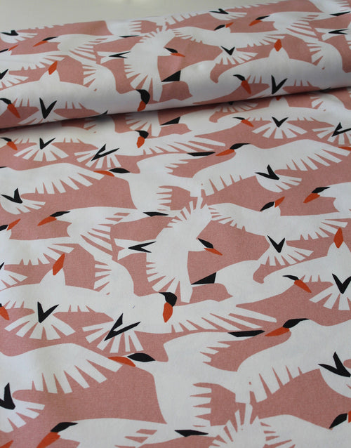 Vanilla Sky, Wildlife By Ophelia Pang, Cloud 9 Organic Cotton Canvas Fabric