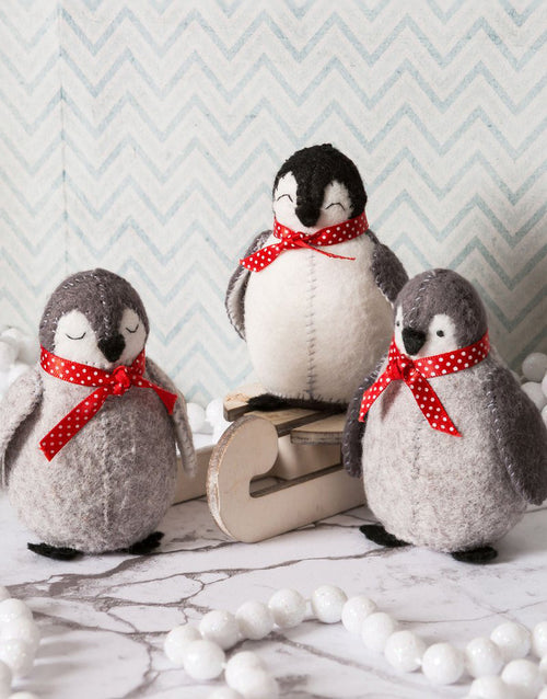 Baby Penguins Felt Craft Kit by Corinne Lapierre