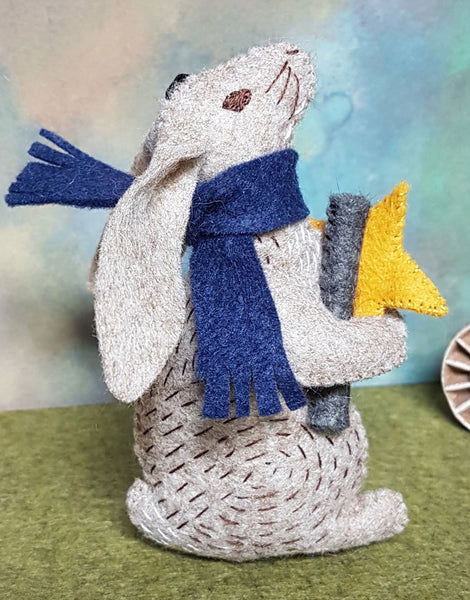 Dr. Hare Stargazer Embroidered Felt Craft Kit by Corinne Lapierre