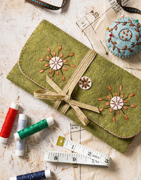 Sewing Roll Embroidered Felt Craft Kit by Corinne Lapierre