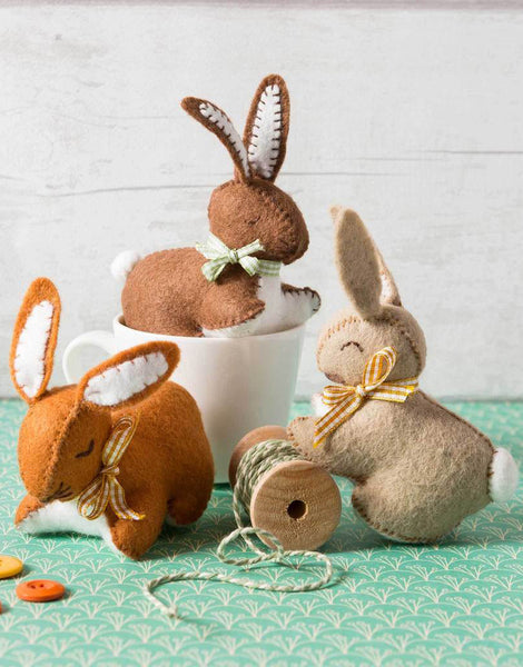 Bunny Rabbit Felt Craft Kit by Corinne Lapierre