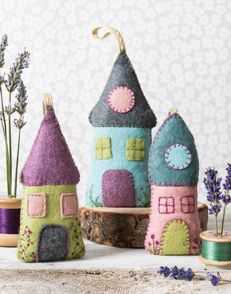 Lavender Houses Felt Craft Kit by Corinne Lapierre