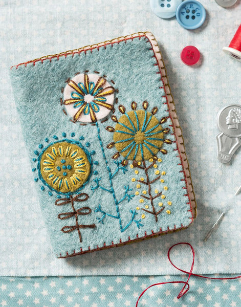 Needle Case Embroidered Felt Craft Kit by Corinne Lapierre