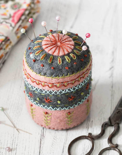 Pin Cushion Embroidered Felt Craft Kit by Corinne Lapierre