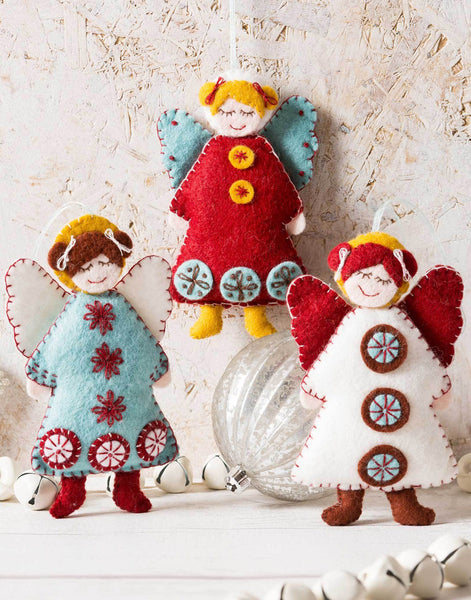 Scandinavian Angels Christmas Embroidered Felt Craft Kit by Corinne Lapierre