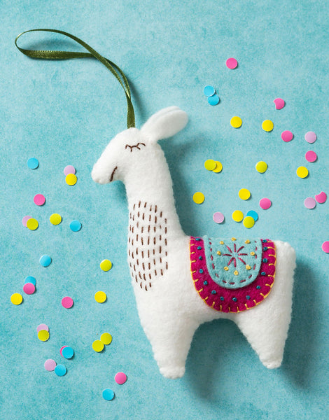 Llama Felt Mini Craft Kit by Corinne Lapierre