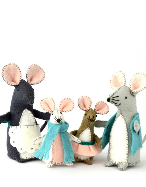 Mouse Family Felt Craft Kit, Corinne Lapierre