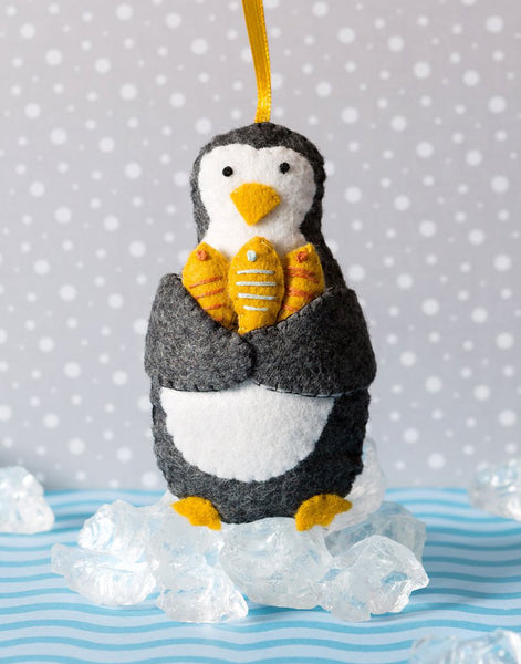 Penguin Mini Felt Christmas Craft Kit by Corinne Lapierre