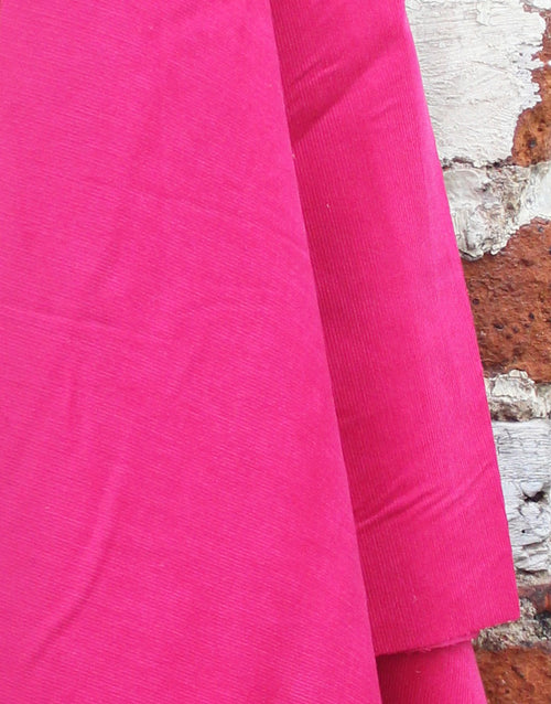 Fuschia Pink Cotton Baby Corduroy Fabric