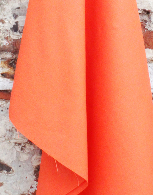 Cotton Canvas Fabric, Orange - Last 90cm