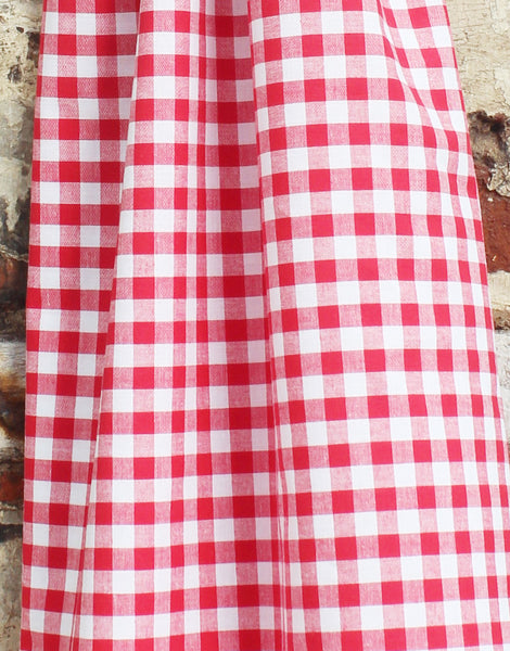 Gingham Cotton Fabric, Red