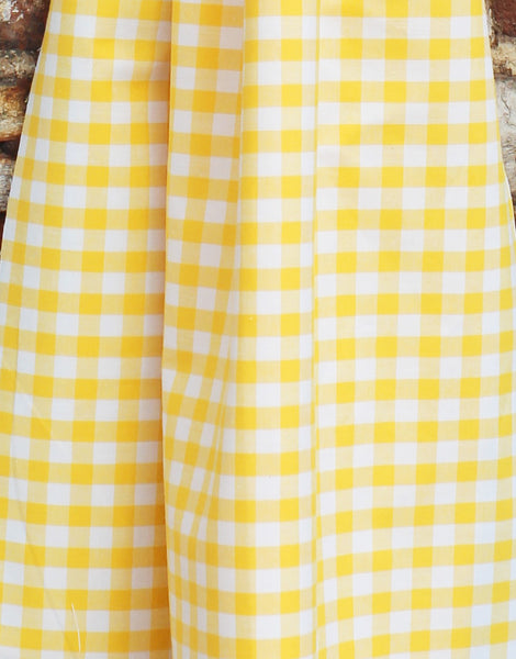 Gingham Cotton Fabric, Yellow