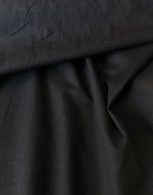 Black Cotton Voile Fabric