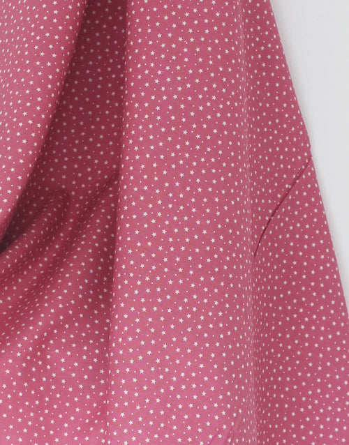 Small Stars on Dusky Pink, Printed Cotton Fabric
