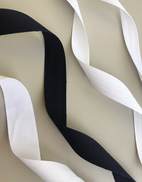 Cotton Tape, White & Black Various Widths