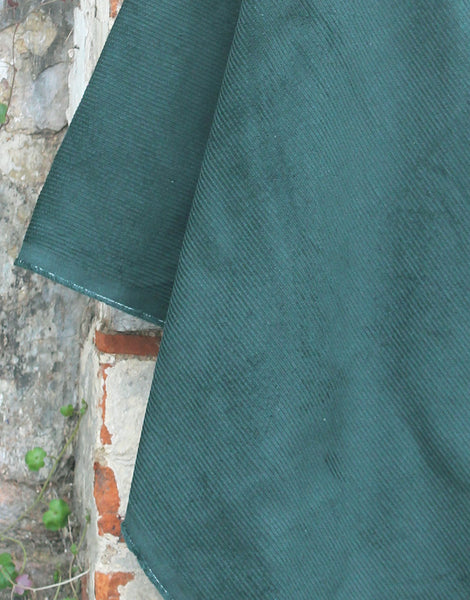 Bottle Green Cotton 8 Wale Corduroy Fabric
