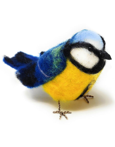Blue Tit Needle Felting Kit, Crafty Kit Company