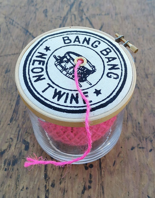 Neon Twine Dispenser 'Bang Bang', The Industrious Maker