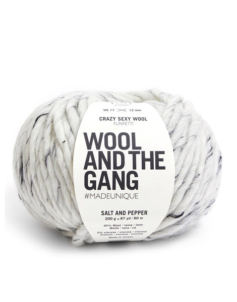 Crazy Sexy Wool Yarn, Wool and the Gang, Salt & Pepper