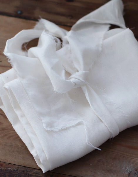 Bright White Slub Tencel Linen Blend Fabric, meet MILK