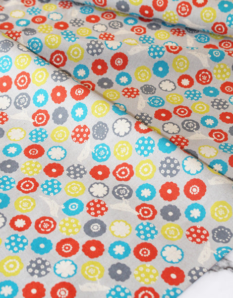 Grey Bonbon, Etsuko Furuya, Echino Japanese Canvas Fabric