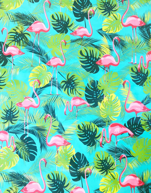 Flamingo, Kitsch Kitchen Mexican Oilcloth Fabric