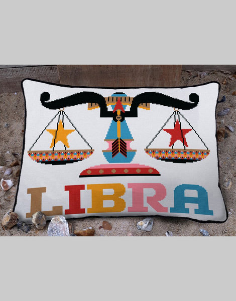 Libra Star Sign Emily Peacock Tapestry Kit