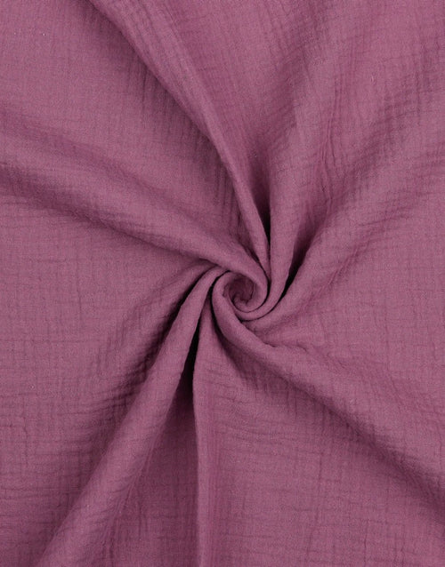 Purple Cotton Organic Double Gauze