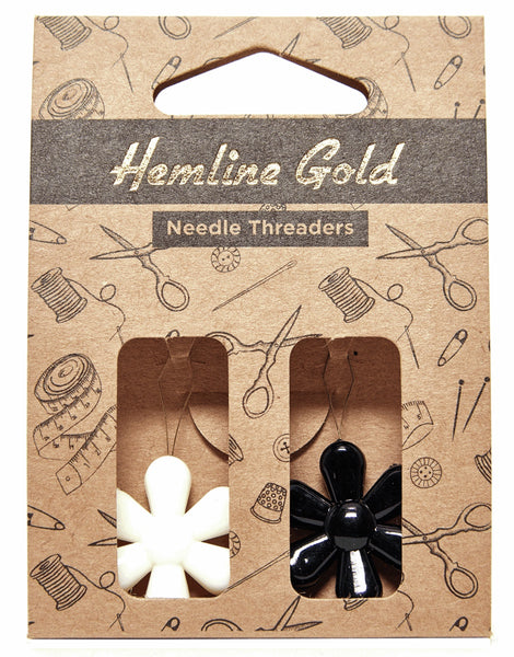 Needle Threader Flower 2 Pack, Hemline Gold