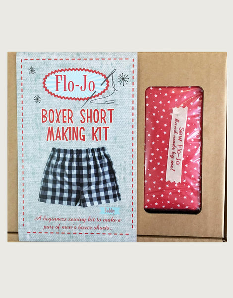 Red Polka Dot Boxer Short Making Kit, Flo-Jo Boutique