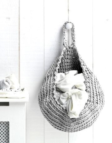 Grey Crocheted Storage Bag Kit, Hoooked Zpagetti