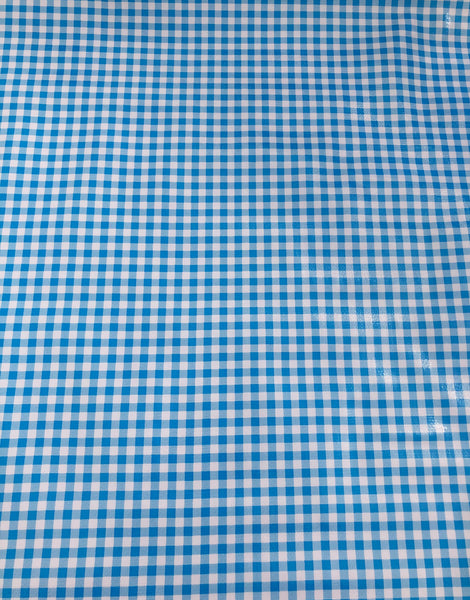 Blue Check, Kitsch Kitchen Mexican Oilcloth Fabric