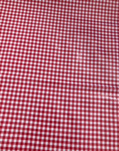 Red Check, Kitsch Kitchen Mexican Oilcloth Fabric
