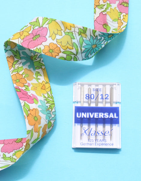 Klasse Sewing Machine Needles, Universal Medium Fabric, 80/12