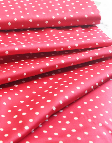 Raspberry Pocho Petit Nani Iro Cotton Sateen