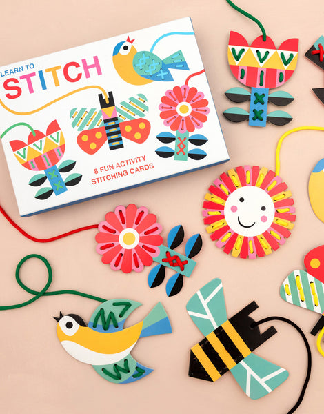 Learn to Stitch  - 8 Fun Activity Stitching Cards