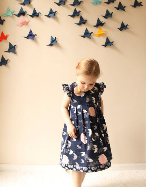 Geranium Girl's Dress Small (1yr - 5yr), Made by Rae Sewing Pattern