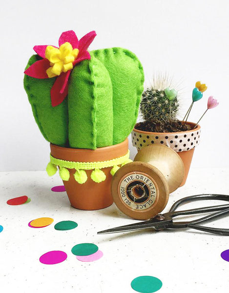 Prickly Cactus Pink Cushion Kit, The Make Arcade Felt Sewing Kit