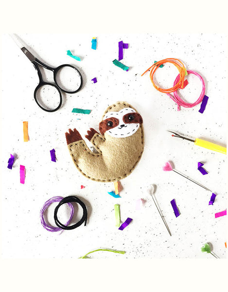 Sammy Sloth Felt Sewing Kit, The Make Arcade