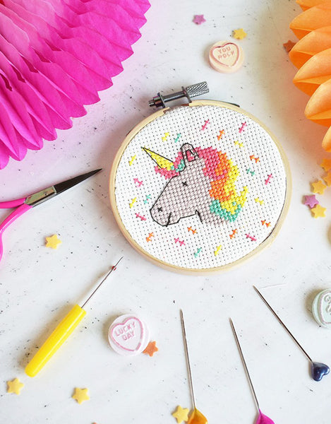 Unicorn Mini Cross Stitch Kit, The Make Arcade