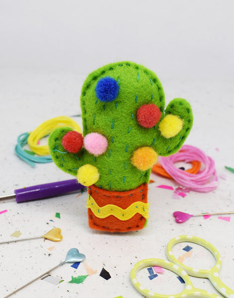 Kitsch Cactus Felt Sewing Kit, The Make Arcade