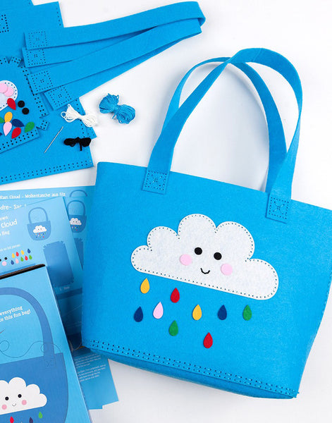 Sew Your Own Happy Cloud Tote Bag