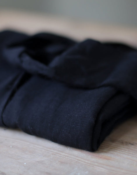 Black Slub Tencel Linen Blend Fabric, meet MILK