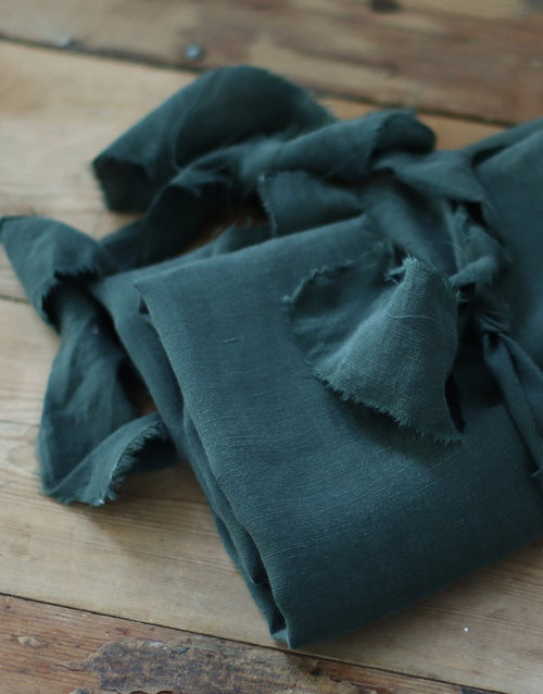 Deep Green Slub Tencel Linen Blend Fabric, meet MILK