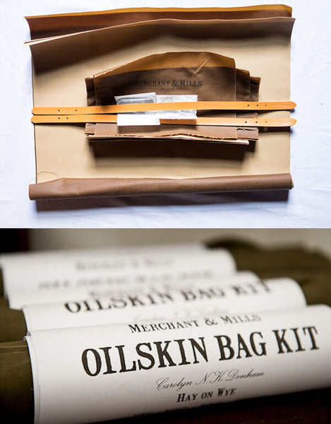 Merchant & Mills Sewing Kit, Oilskin Tote Bag