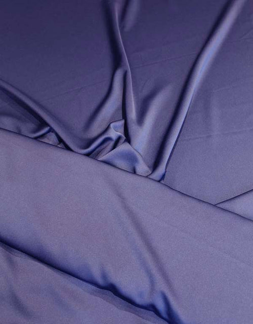 Micro Satin Fabric, Navy Blue